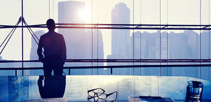 Businessman Thinking Professional Office Corporate Concept